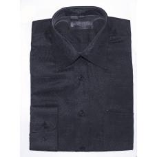 Рубашка Fortunato черная с выработкой