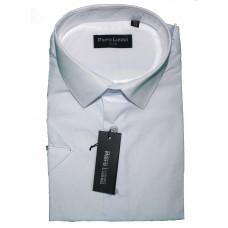 Классическая мужская сорочка с коротким рукавом  белого цвета Piero Lusso Classik 1102
