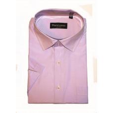 Рубашка с коротким рукавом розовая в полоску Piero lusso 1102