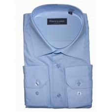 Рубашка голубого цвета с длинным рукавом Piero Lusso 1104