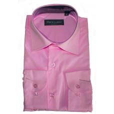 Классическая рубашка розового цвета с длинным рукавом Piro Lusso 1121