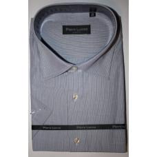 Сорочка мужская серого цвета в тонкую полоску  Piero Lusso Classic 8640