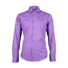 Мужская сорочка приталенная Pierro Lusso 1116S  сиреневого цвета