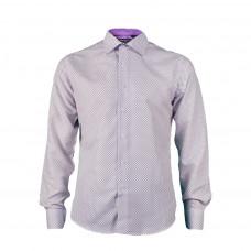 Сорочка Pierro lusso Белая с сиреневым PL LQ-50S slim
