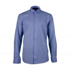 Рубашка синяя BAWER с длинным рукавом