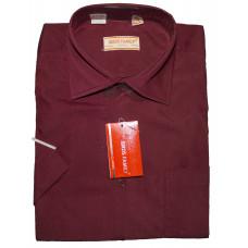 Мужская рубашка бордового цвета с коротким рукавом Birds Family