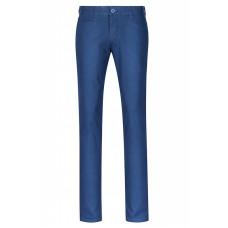 Хлопковые мужские брюки синего цвета