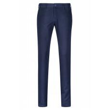 Хлопковые мужские брюки темно-синего цвета