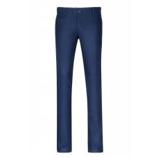 Хлопковые летние мужские брюки темно-синего цвета