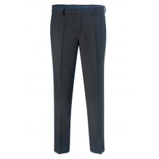 Зимние мужские классические брюки черного цвета Б942