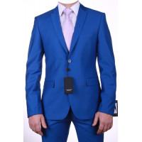 """Ярко-синий мужской костюм Franchesco Fellini """"Борланд""""  js-9026"""