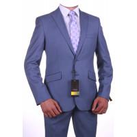 """Мужской классический костюм """" Бернард серо-голубой"""" 11801"""