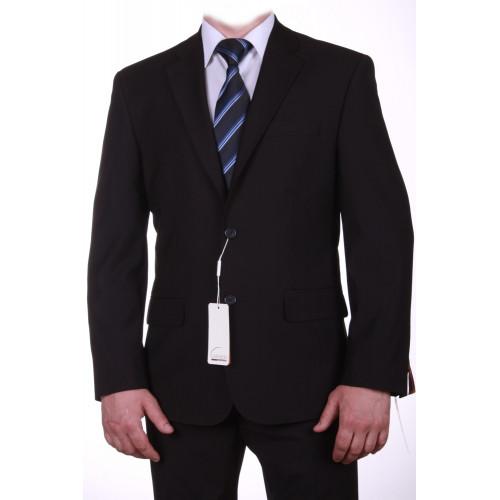 Мужской классический костюм черный приталенный Ягуар 12935(1)