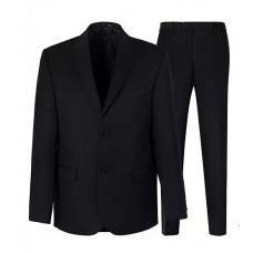 Мужской чёрный костюм Stenser 100