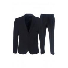 Мужской костюм-тройка черного цвета. 3К10Р