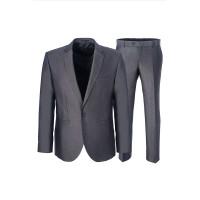 Классический деловой мужской костюм серого цвета STENSER 5109