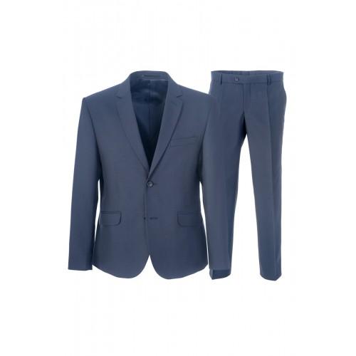 Мужской костюм синего цвета Stenser 5119