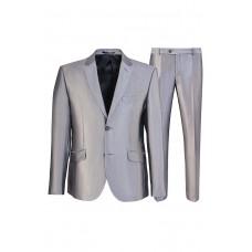 Серо-бежевый строгий классический мужской деловой костюм Stenser 5138