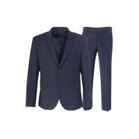 Школьный классический  костюм синего цвета Stenser 5140