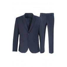 Мужской классический костюм синего цвета 5140