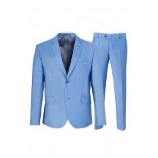 Мужской классический костюм голубого цвета Stenser 5147