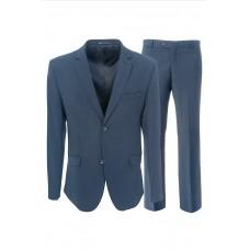 Мужской костюм синего цвета Stenser 5149