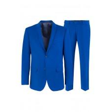Стильный классический мужской костюм ярко-синего цвета.  Stenser К5154