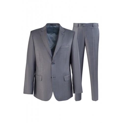 Мужской костюм серого цвета Stenser K736