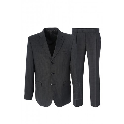 Мужской костюм серого цвета Stenser 804