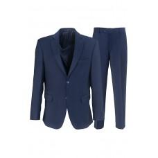 Мужской классический деловой костюм синего цвета К90
