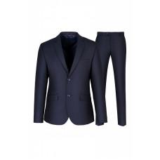 Мужской костюм тройка синего цвета 3К29РА
