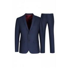 Классический синий мужской костюм 5168