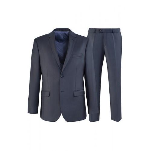 Мужской классический деловой костюм серого цвета Stenser K5731