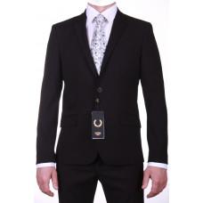 """Черный приталенный костюм """"Паоло"""""""