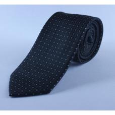 Черный галстук в белую точку 0003