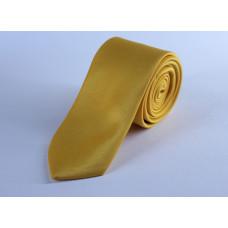 Галстук желтого цвета однотонный 0007
