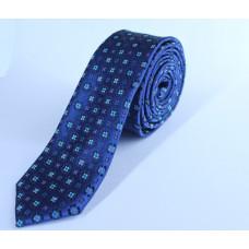 Галстук синего цвета с орнаментом 0009