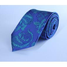 Галстук синего цвета с рисунком 0013
