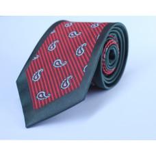 Галстук красного цвета с черным кантом 0014