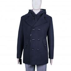 Мужское зимнее пальто темно-синего цвета K40