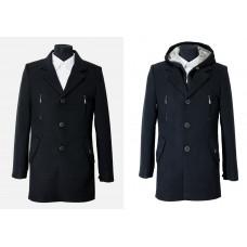 Мужское зимнее пальто Sainy 075 велюр