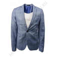 Пиджак мужской в клетку синий